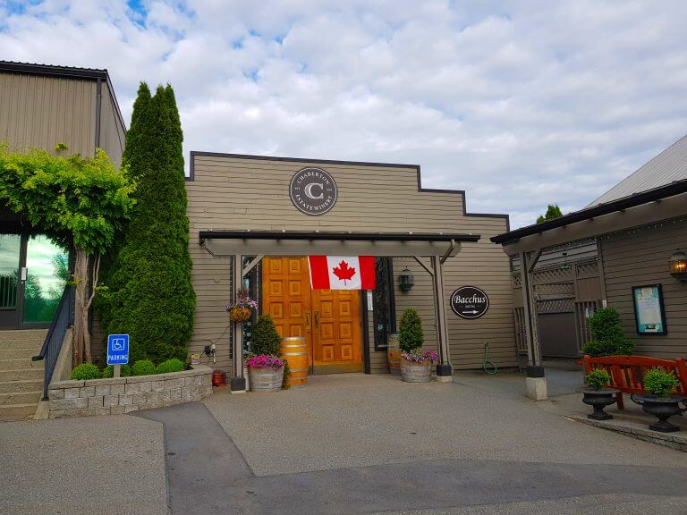 Checking out Chaberton Estate Winery while exploring the wineries of BC, Canada