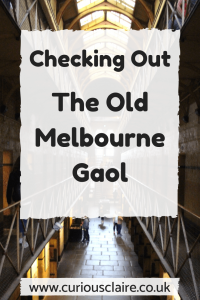Taking a tour of The Old Melbourne Gaol (Prison) - Melbourne, Australia