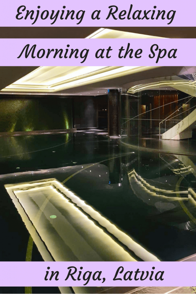Enjoying a relaxing morning at the spa in Riga's Radisson Blu Hotel