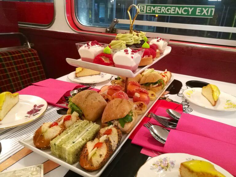 Could this be London's quirkiest afternoon tea? You'll ride around on an infamous London red bus while sampling delicious sandwiches and desserts and they'll even be a few gin cocktails to try along the way!