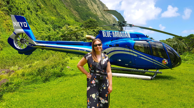 Taking a helicopter tour around an active volcano with Blue Hawaiian