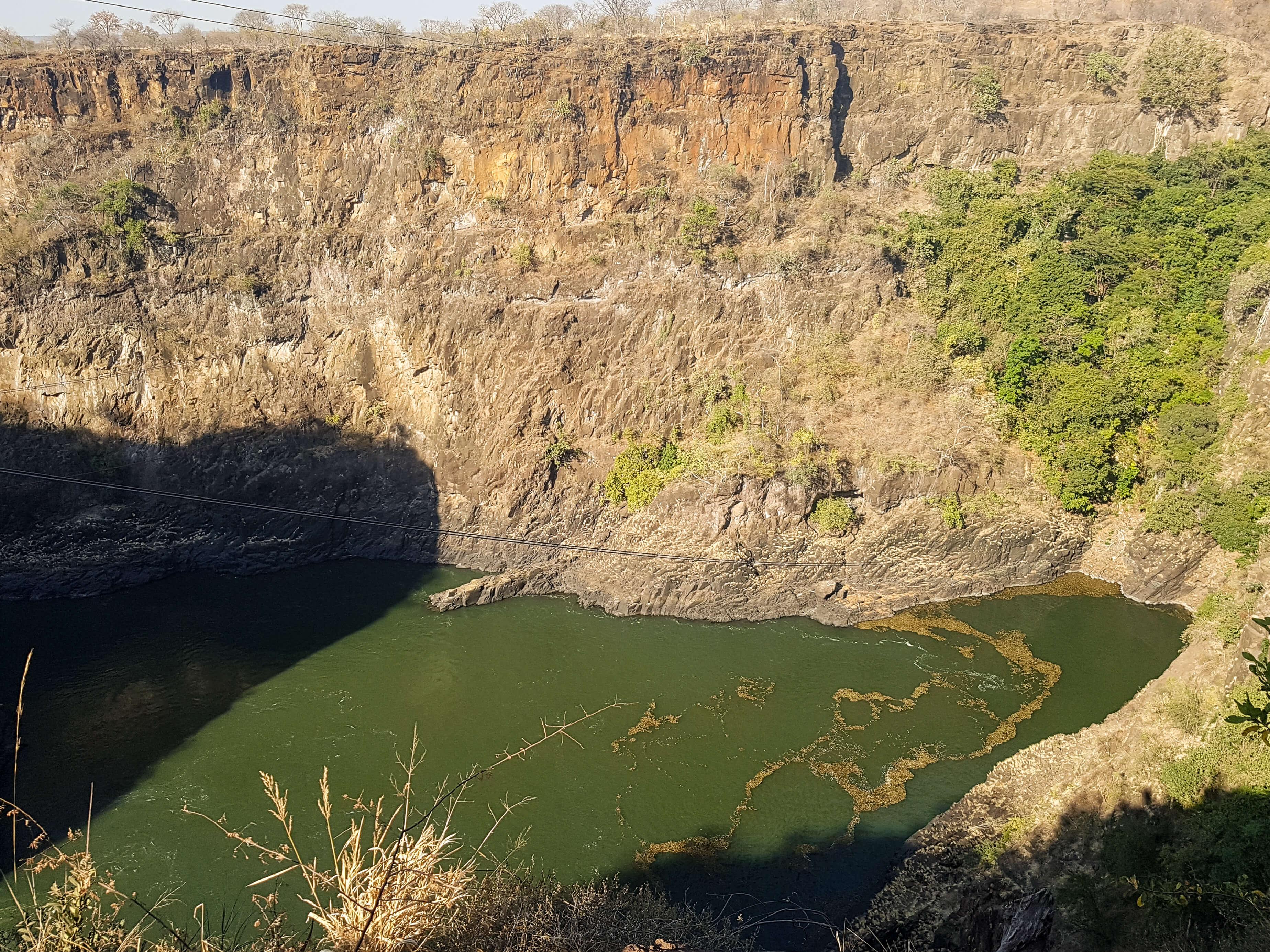 Zip Lining over the Zambezi River - Victoria Falls, Zimbabwe