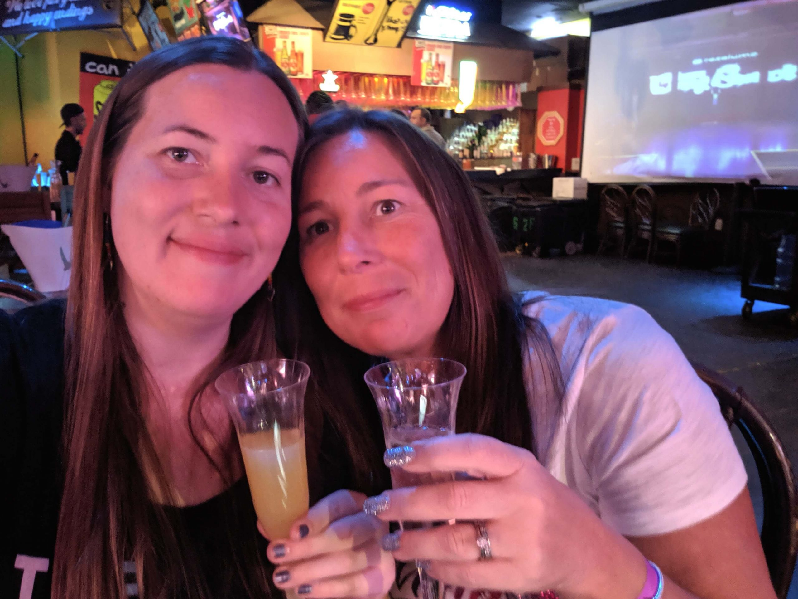Me and mum enjoying our mimosas at the Drag Queen Brunch