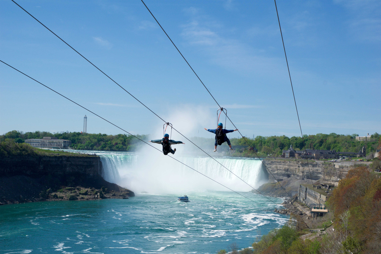 Zip Lining over Niagara Falls in Canada