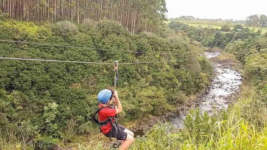 UmaUma Falls Zip Line on Hawaii Big Island