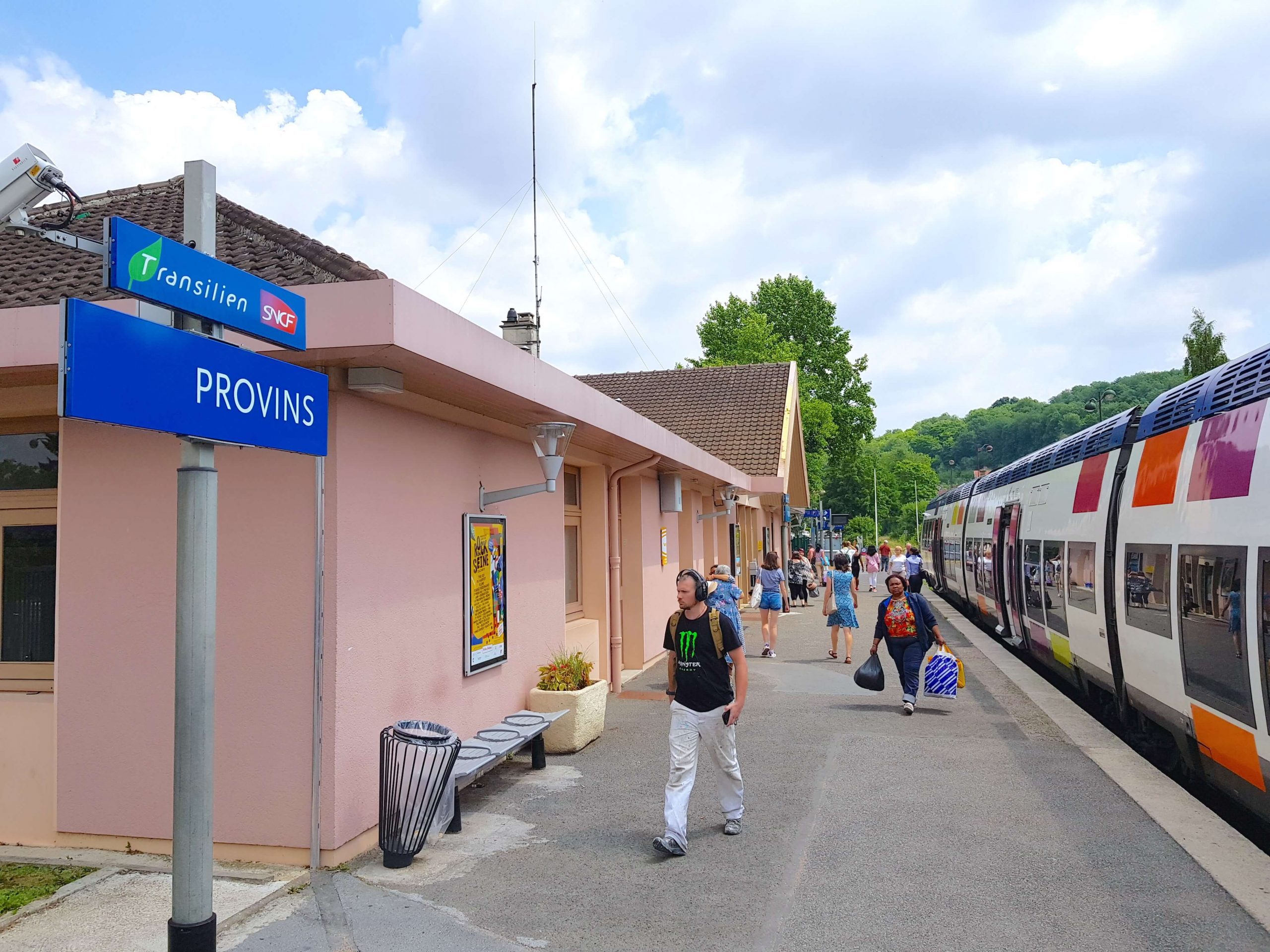 The train station at Provins - the best way to get to Provins from Paris is by train