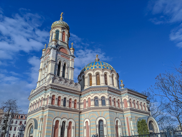 The beautiful Alexander Nevsky Cathedral in Lodz