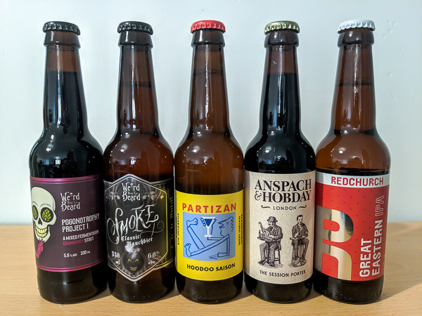 Beers from Craft Metropolis Beer Delivery