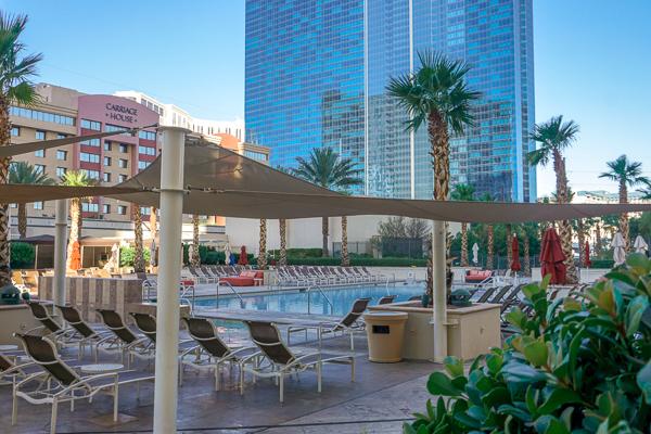 The pool at The Signature at MGM Grand