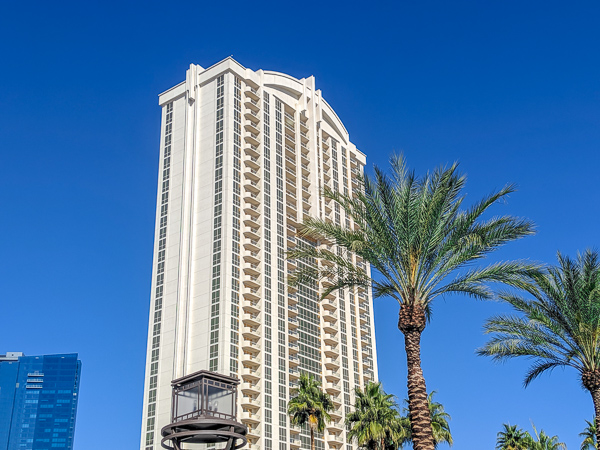 One of the towers of The Signature at MGM Grand in Las Vegas