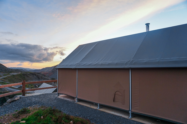Luxury glamping in North Wales - lodges are sturdy to keep them warm and cosy