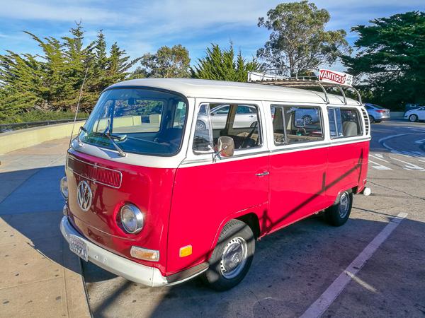 Lillie - our gorgeous red VW Volkswagen van used on the Vantigo Tour of San Francisco