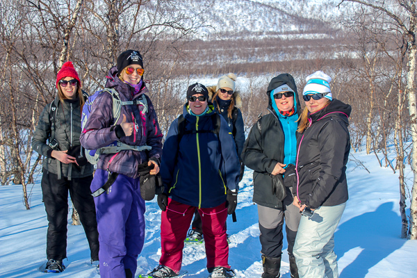Going snowshoeing with the awesome team at Aurora Holidays in Utsjoki - the perfect place for chasing the northern lights