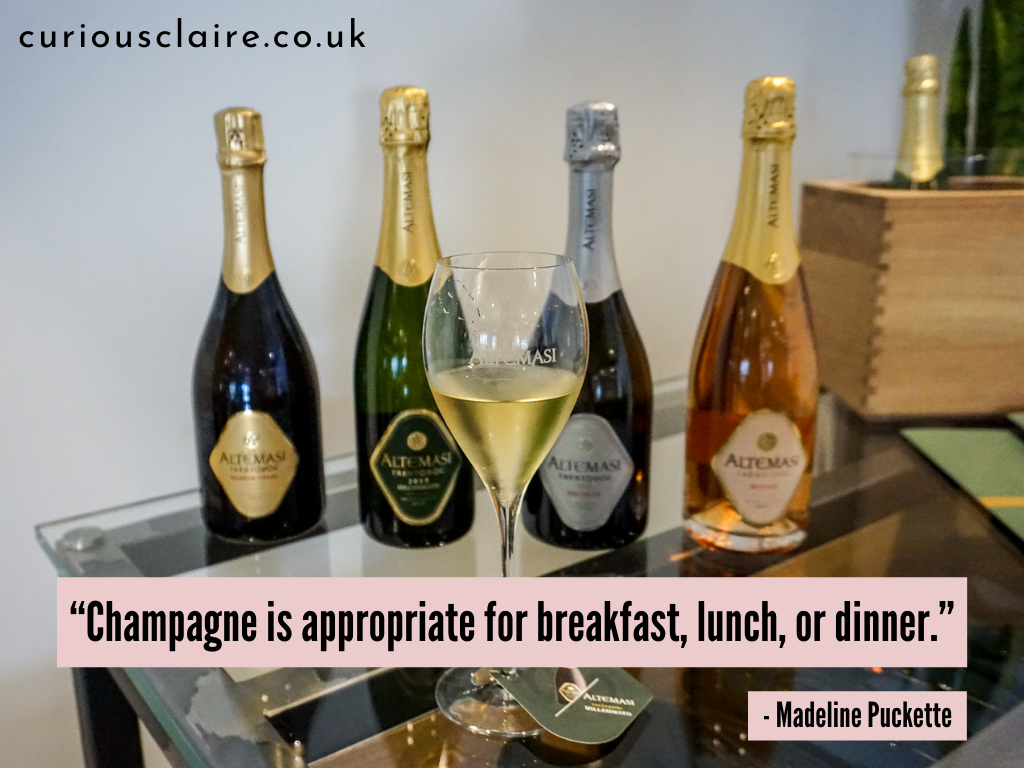 """""""Champagne is appropriate for breakfast, lunch, or dinner."""" ― Madeline Puckette 