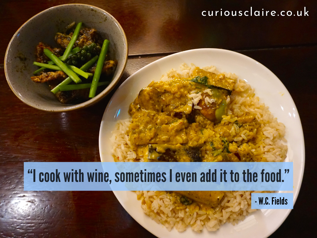 """""""I cook with wine, sometimes I even add it to the food."""" ― W.C. Fields 